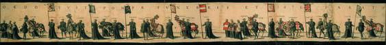 Pompe funèbre de Charles Quint à Bruxelles en 1558<br>van Doetecum, Joannes / van Doetecum, Lucas / Plantijn,  Christoffel / Cock, Hieronymus
