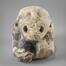 Monstre accroupi (modillon original du choeur de l'église Notre-Dame de la Chapelle)<br>