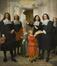 Les Maîtres des Pauvres distribuant des aumônes dans la Collégiale des Saints-Michel-et-Gudule<br>de Champaigne, Philippe