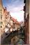 Bras de la Senne au Borgval, vue prise de la rue des Pierres<br>Van Moer, Jean-Baptiste
