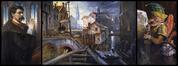 Satirisch drieluik over de overwelving van de Zenne<br>Ghémar, Louis-Joseph