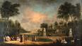 Le parc de Bruxelles et le Palais des Etats Généraux<br>Simons, A. A.