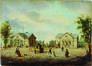 Les pavillons d'octroi à la porte de Ninove<br>Anonyme / Anoniem,