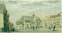 Vue de l'église Notre-Dame des Victoires au Sablon, avant l'aménagement du square du Petit Sablon<br>Anonyme / Anoniem,