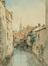 Vue de la Senne et du Ruysmolen depuis la rue Saint-Géry
