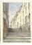 La rue Notre-Dame, vue de la rue Terarken<br>Carabain, Jacques