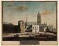 Vue d'une vieille tour des anciens remparts de Bruxelles et des démolitions de l'ancien Couvent des Anglaises<br>Vitzthumb, Paul