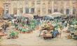 Le marché aux fleurs sur la Grand-Place<br>Hoeterickx, Émile