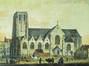 Vue extérieure de l'église Saint-Géry <br>Anonyme / Anoniem,