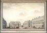 Vue de la place Saint-Michel à Bruxelles<br>Van der Puyl, L.F.G.
