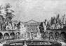 Le grand bassin du parc en 1784