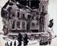 La rue aux Laines le 7 avril 1950 et les grilles du Palais de Justice<br>Gailliard, Jean-Jacques