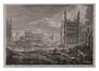 Débris d'une partie du grand marché depuis le coing de la Heuvelstraet vers Saint Nicolas après le bombardement de 1695<br>Schenk, P. / Van Orley,  Richard / Coppens, A.