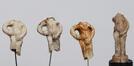 Quatre fragments de figurines de Manneken-Pis<br>