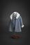 Ensemble manteau, blouse et culotte<br>