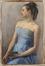 Femme en robe bleue<br>Fabry, Suzanne