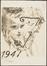 Carte de voeux 1947<br>Delescluze, Edmond