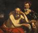Heraclite et Démocrite.<br>Jordaens,  Jacob