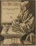 Portret van Erasmus die staande schrijft