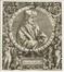 Portrait d'Erasme dans un tondo<br>de Bry,  Théodore
