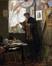 Camille Lemonnier dans l'atelier de l'artiste<br>Stevens, Alfred