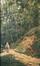 Personnages dans un chemin forestier<br>Devis, Pierre