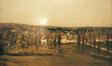Panorama de peupliers<br>Devis, Pierre