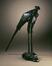 Secretarisvogel (vrouwtje)<br>Bugatti, Rembrandt / Hébrard, Adrien-Aurélien
