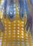 Vase irisé jaune et bleu<br>Witwe, Loetz