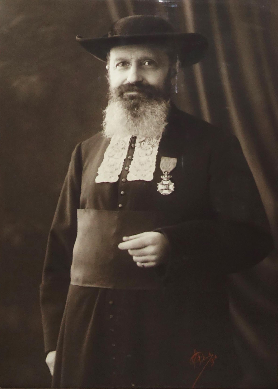 Photographie d'Armand Bloch grand rabbin de Belgique. © Sam Polak, ca.1920