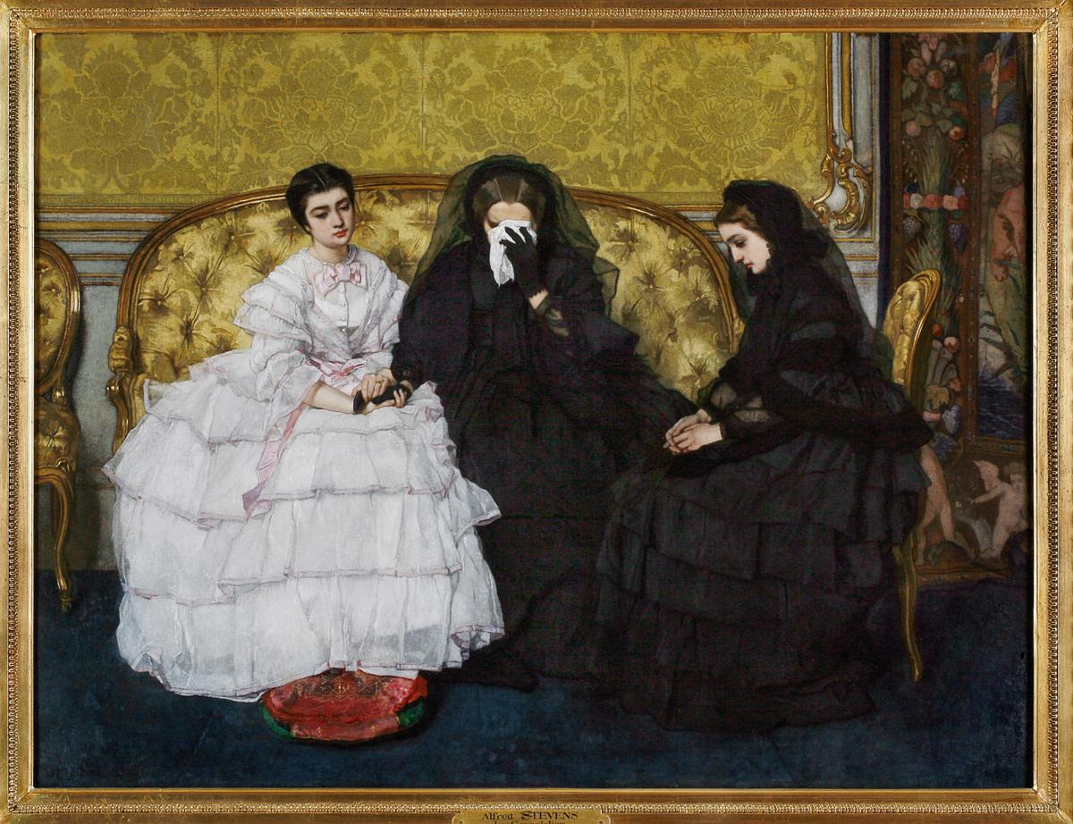 la consolation ou Visite de condoléances, 1857