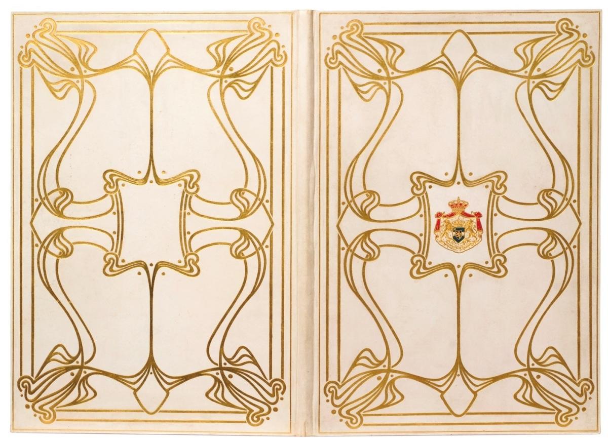 reliure Art nouveau, porte-document© Bibliotheca Wittockiana