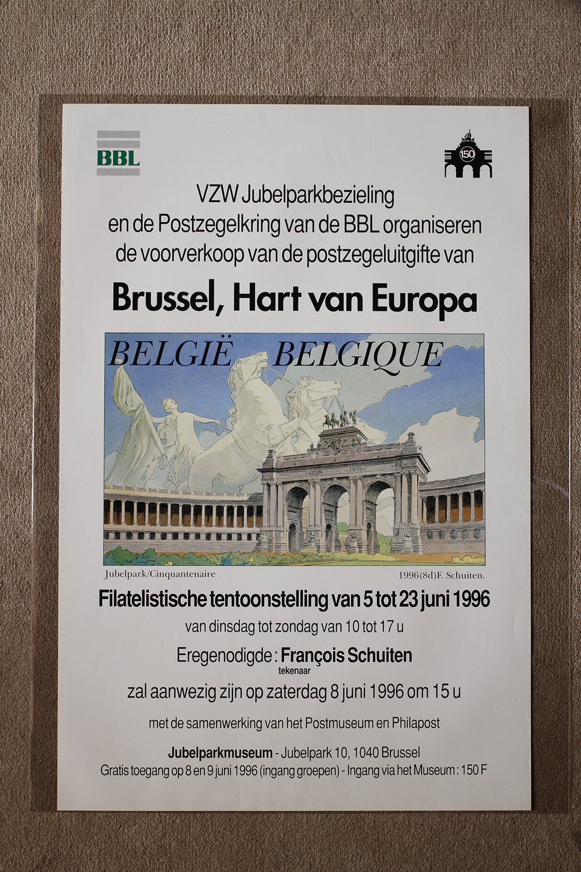 Bruxelles, Hart van Europa. Exposition philatélique© François Schuiten, 1996