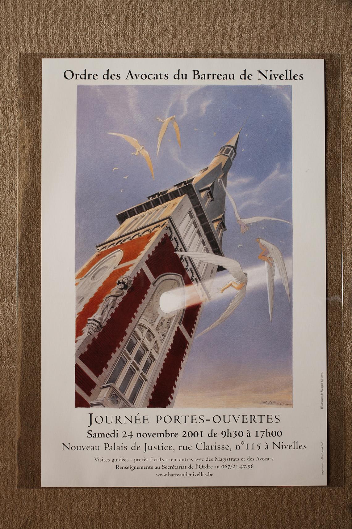 Ordre des avocats du Barreau de Nivelles.© François Schuiten, 2001