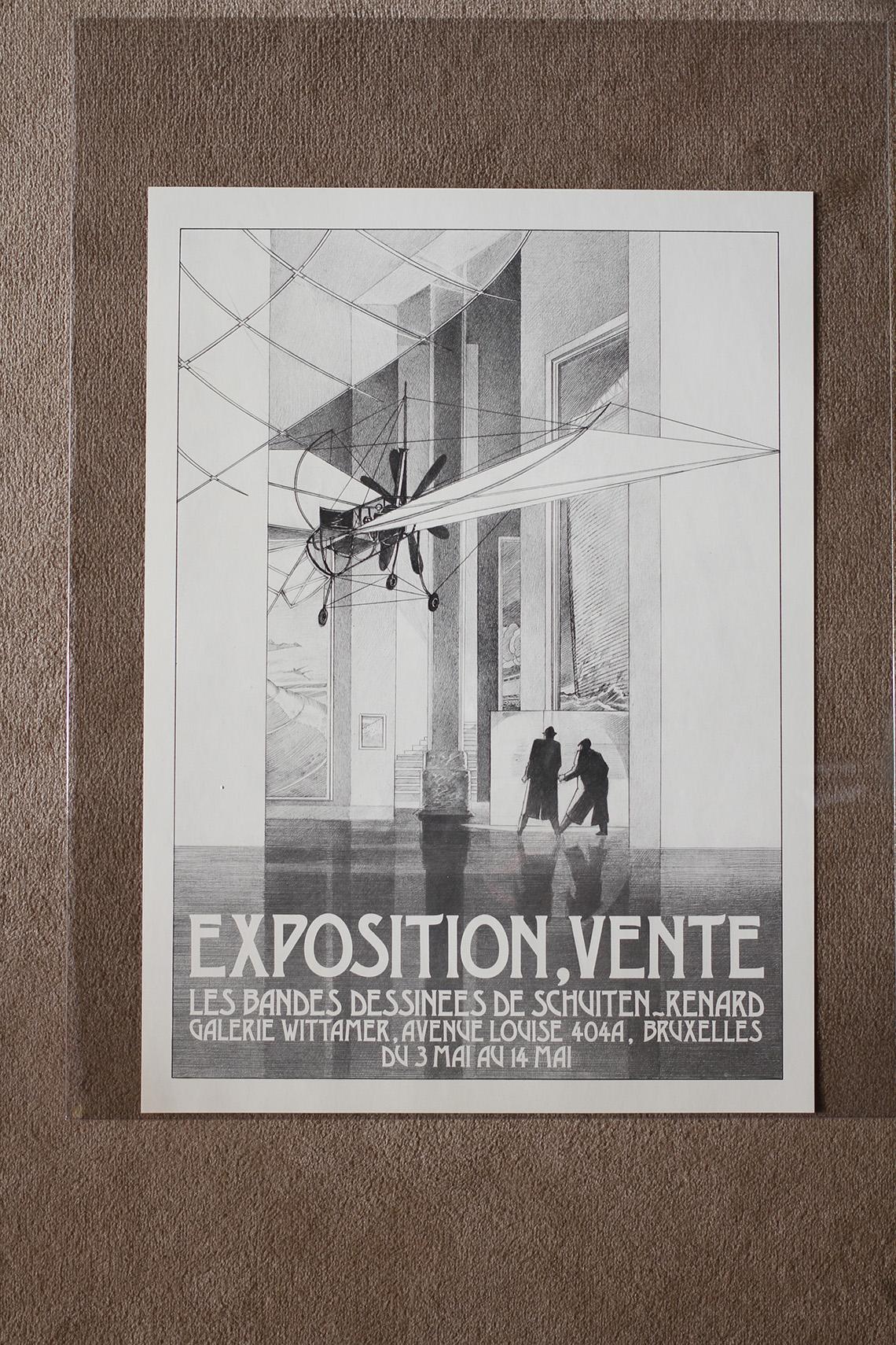 Exposition vente les bandes dessinées de Schuiten - Renard© François Schuiten / Claude Renard, 1984