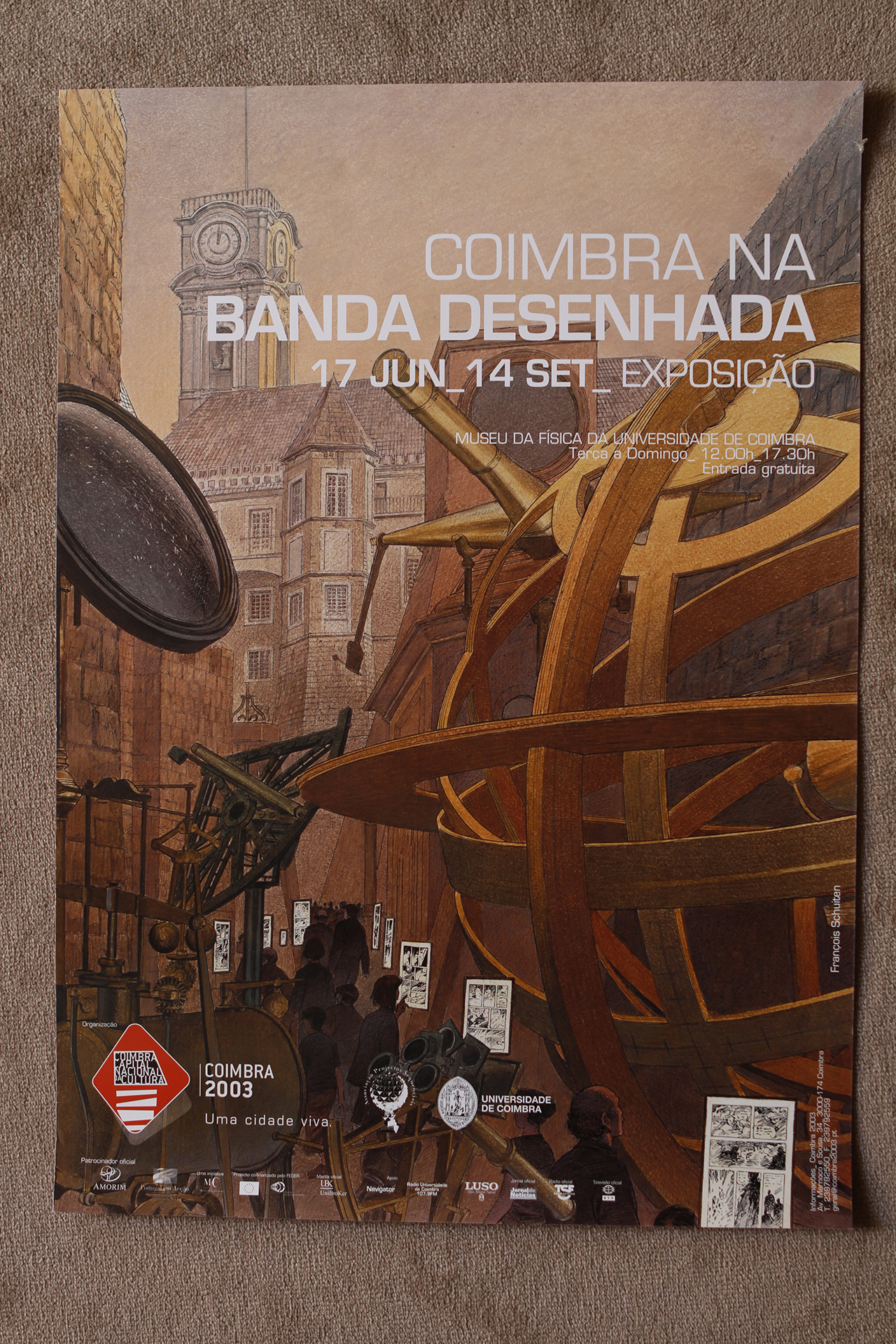Coïmbra na Banda Desenhada© François Schuiten, 2003