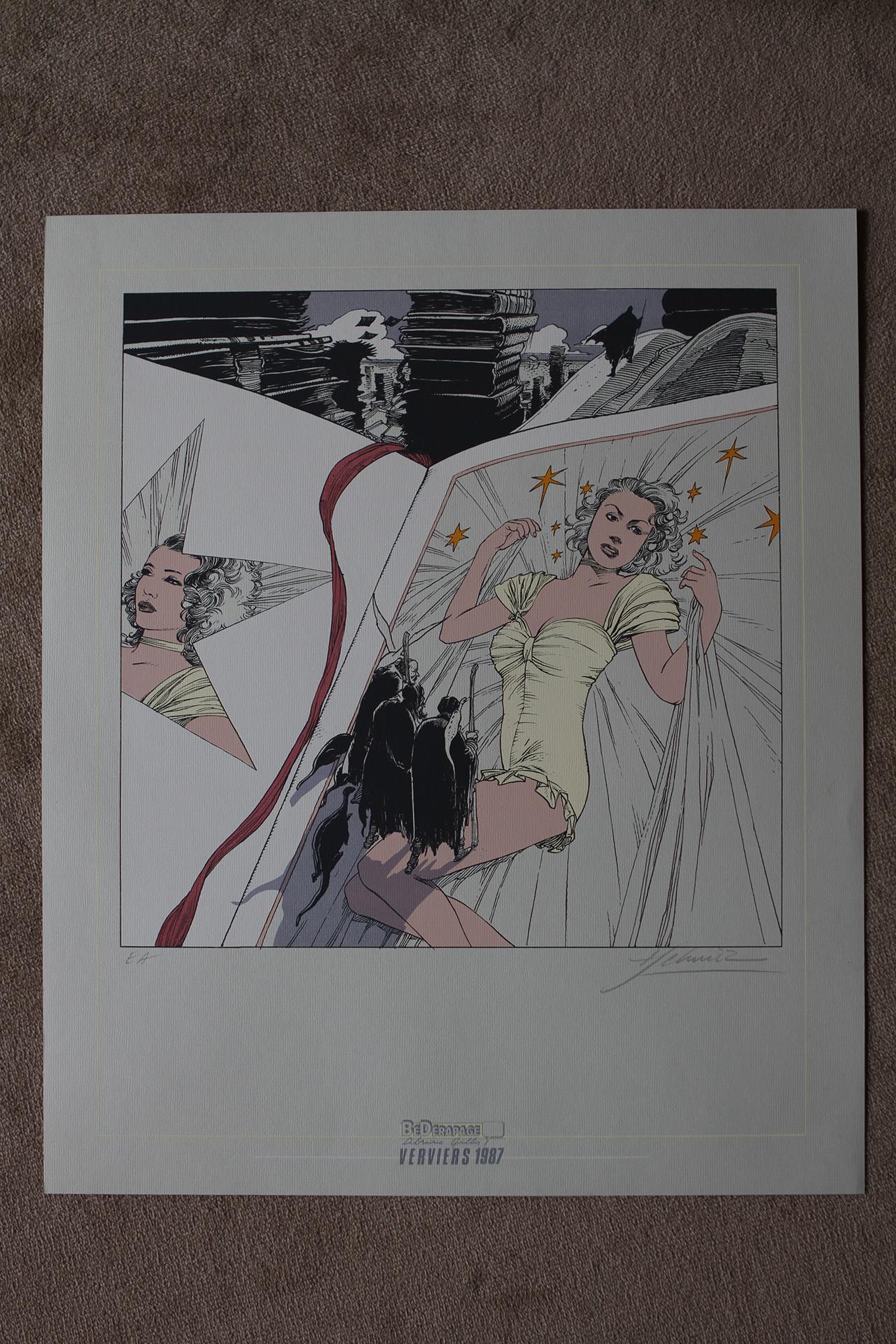 La Lectrice© François Schuiten, 1987