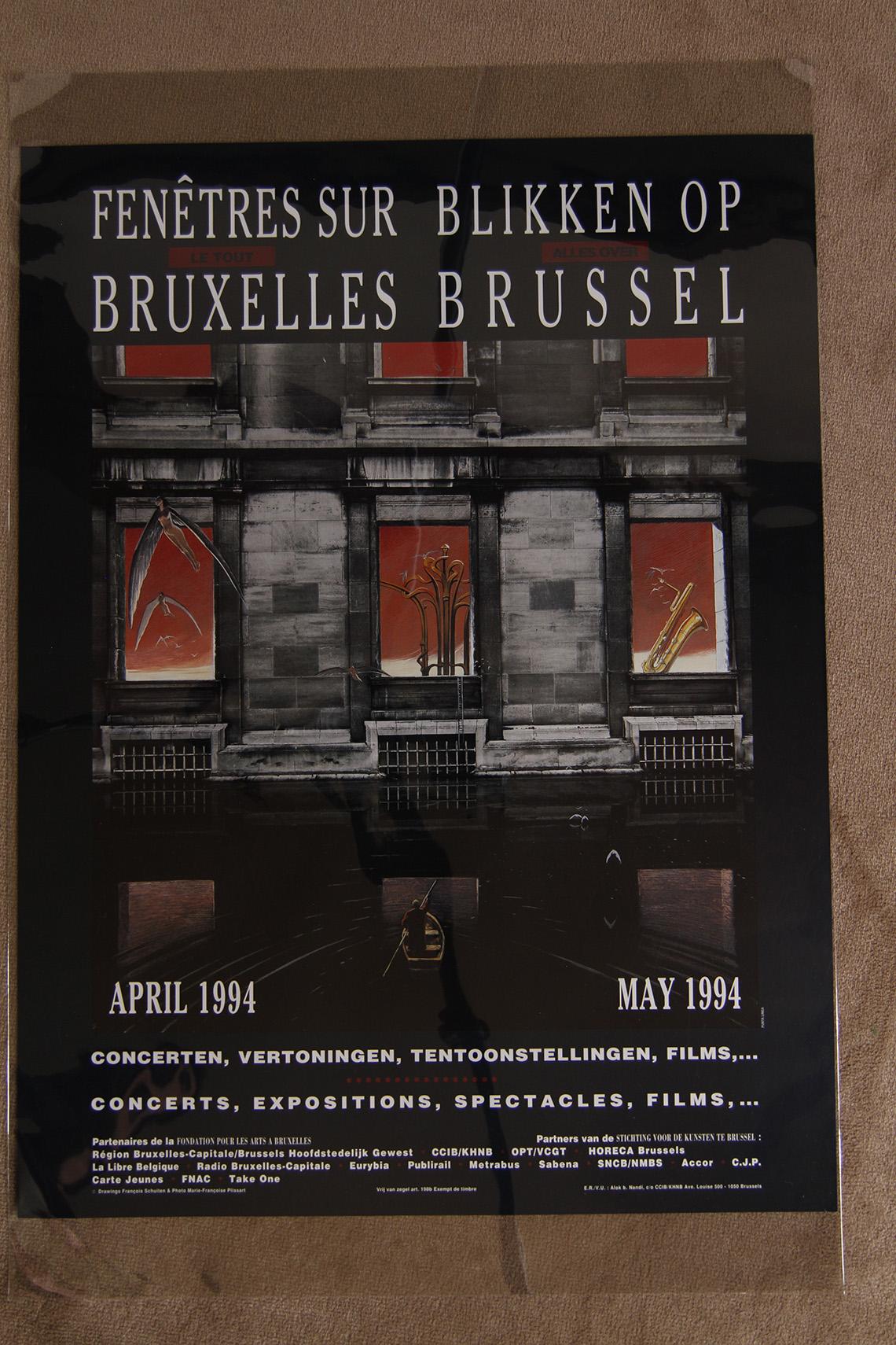 Fenêtre sur le tout Bruxelles© François Schuiten / Marie-Françoise Plissart , 1994