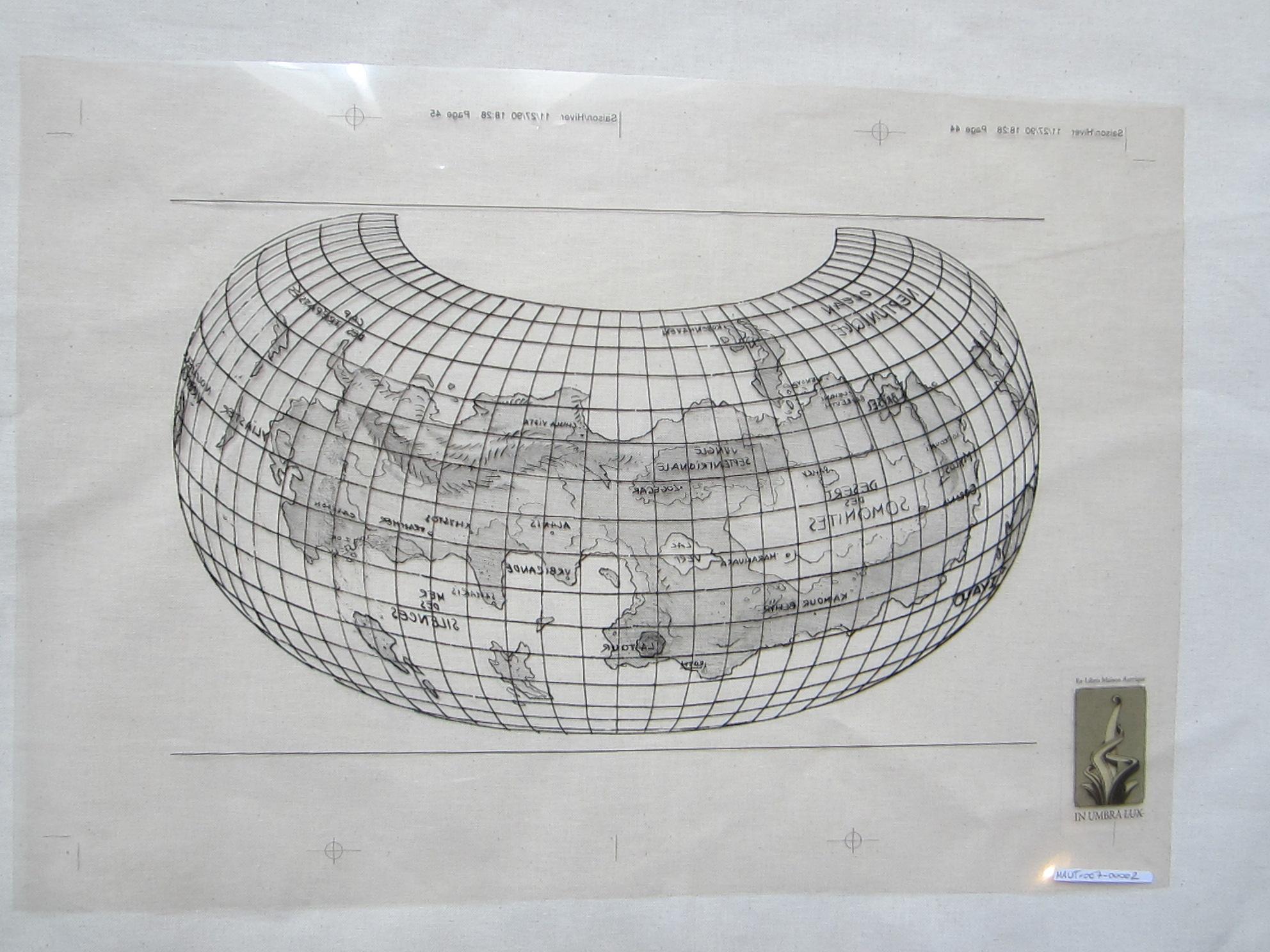 Planisphère du monde obscur© François Schuiten, 1990