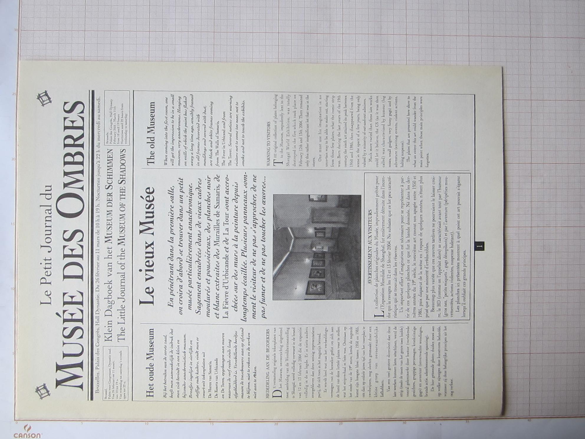 Le Petit journal du musée des ombres© François Schuiten / Benoît Peeters , 1991