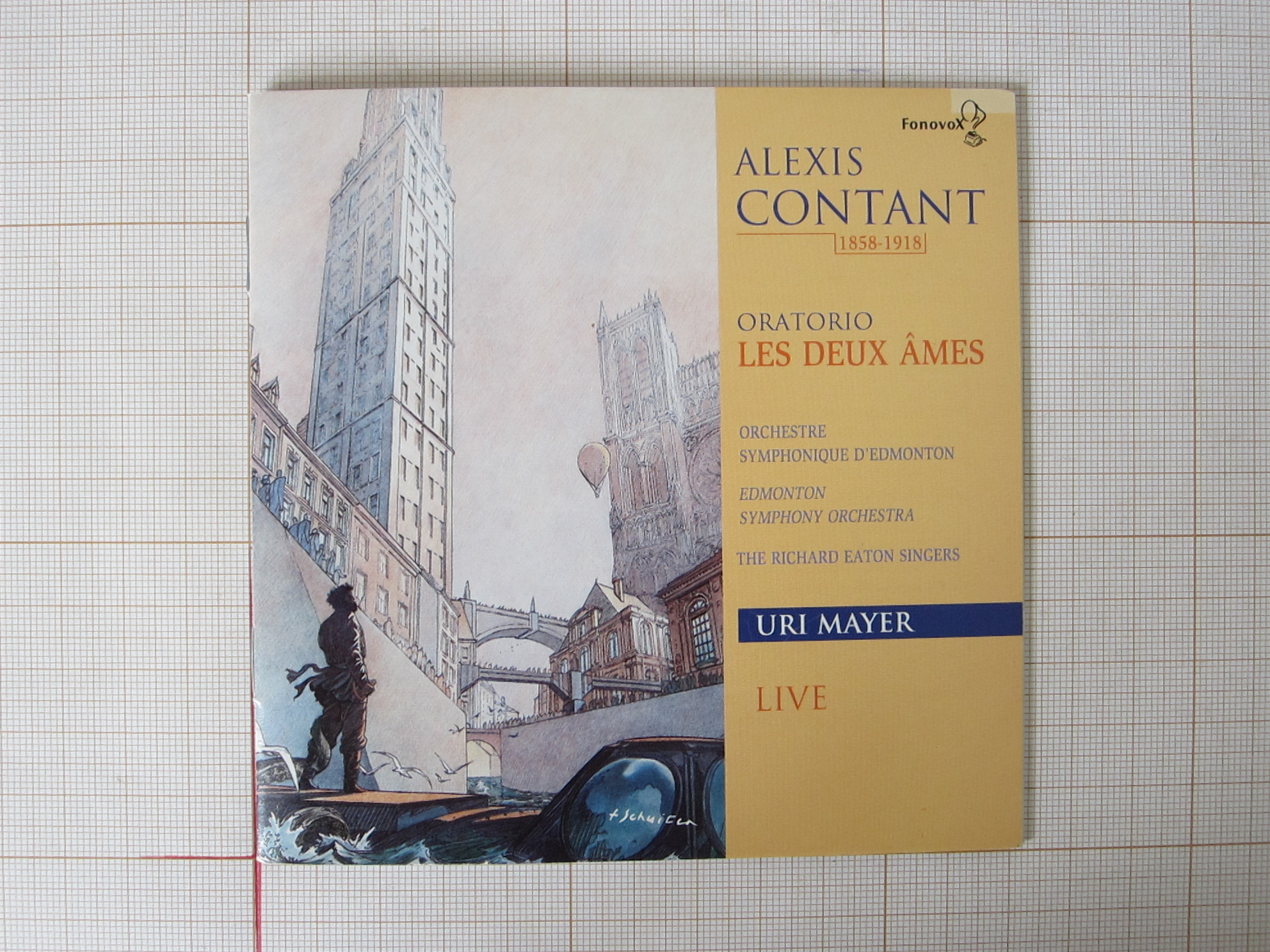 """Alexis Contant 1858-1918. Oratorio """"Les deux âmes""""© François Schuiten / Alexis Contant , 1989"""