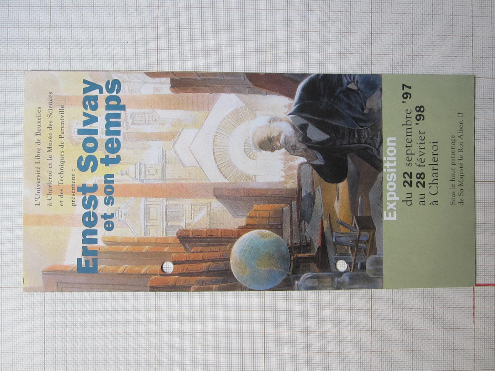 """Invitation exposition """"Ernest Solvay et son temps""""© François Schuiten / Université libre de Bruxelles / Musée des Sciences et des Techniques, 1997"""