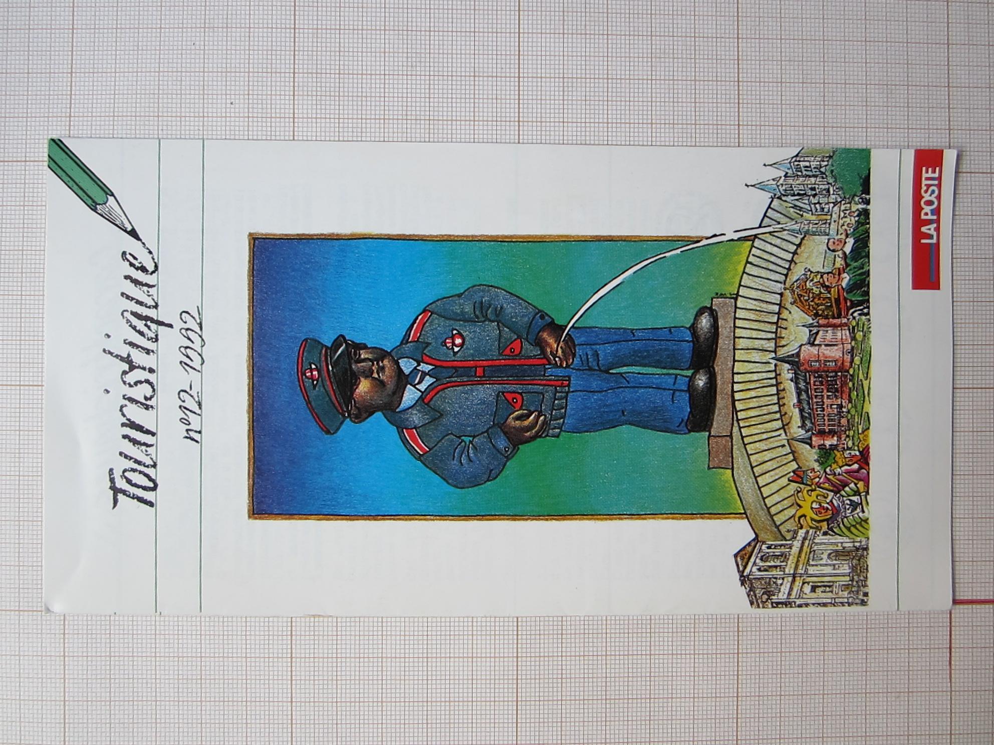 Touristique n°12 -1992© François Schuiten / La poste, 1992