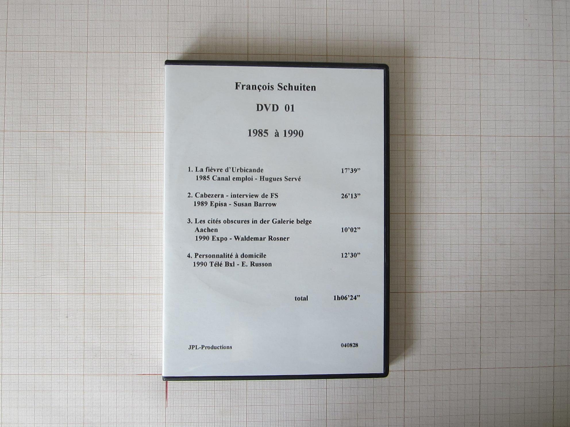 François Schuiten DVD 01+18 1985 à 1993 - JPL-Productions© Autrique Huis, 1993
