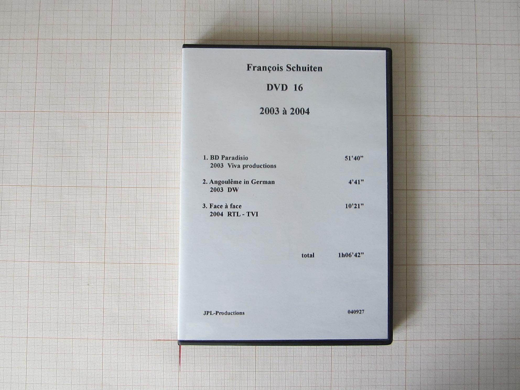 François Schuiten DVD 16+25 1992 à 2004 - JPL Productions© Maison Autrique, 2004