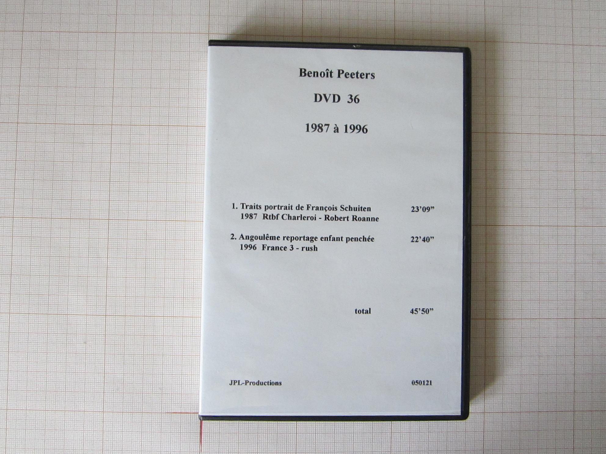 Benoît Peeters DVD 36 1987 à 1996 - JPL-Productions© Maison Autrique, 1996