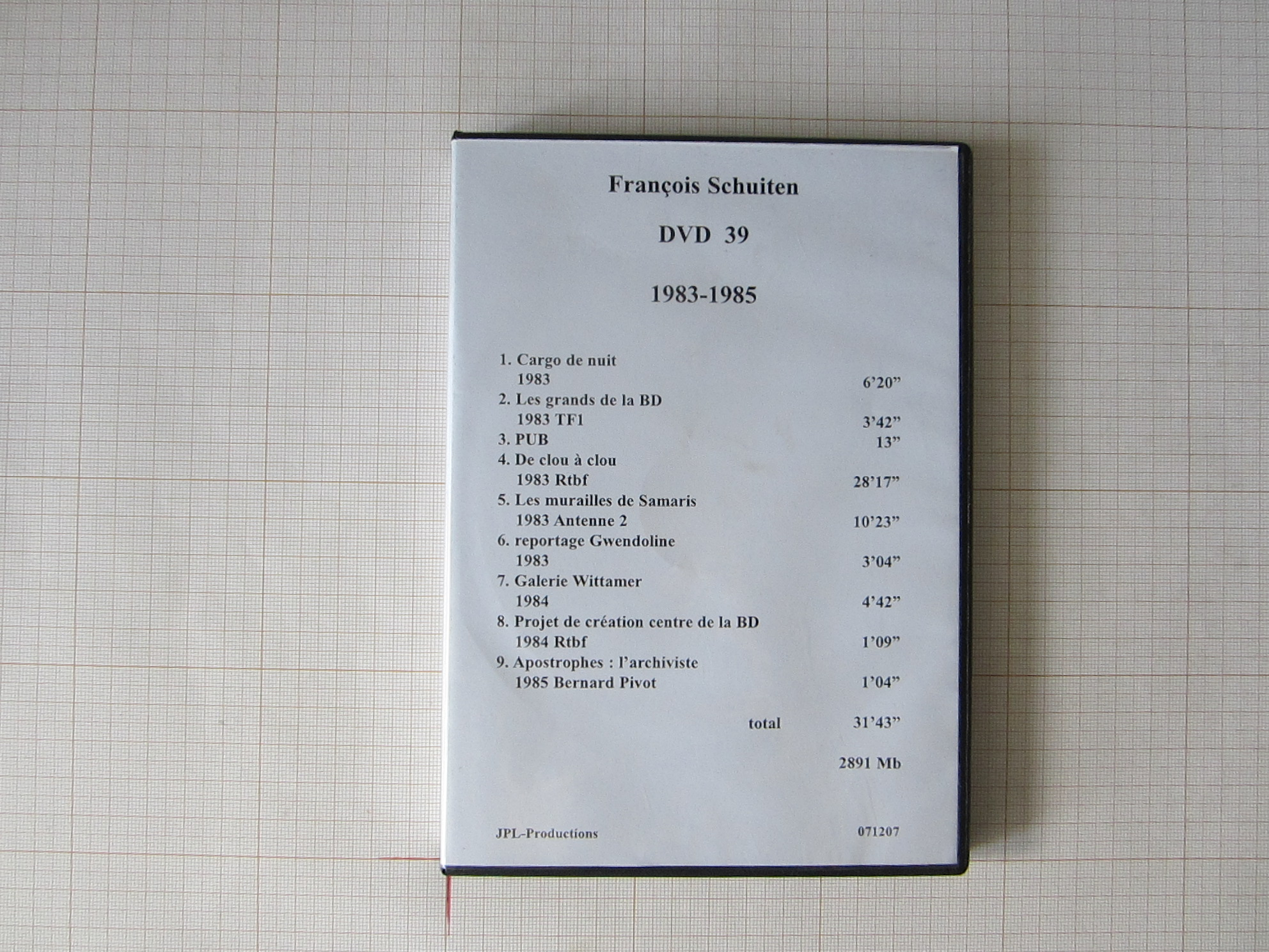 François Schuiten DVD 39+40 1983 à 1985 - JPL Productions© Maison Autrique, 1985